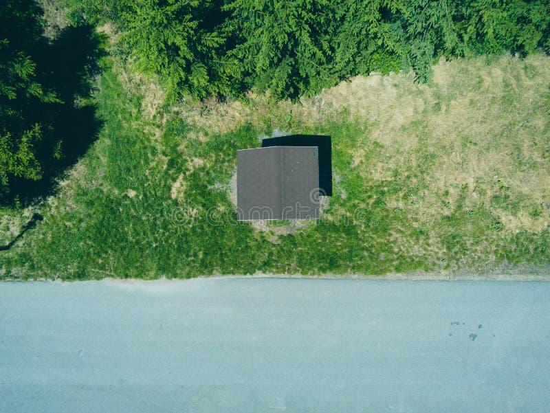 Paisaje del parque de naturaleza en Brno desde arriba, República Checa fotografía de archivo