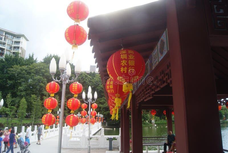 Paisaje del parque del lichí de Shenzhen imagenes de archivo