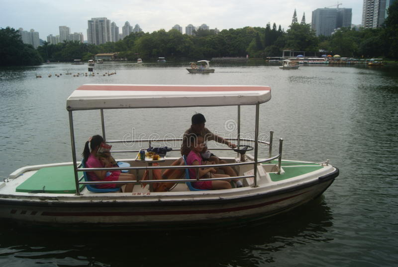 Paisaje del parque del lichí de Shenzhen fotografía de archivo
