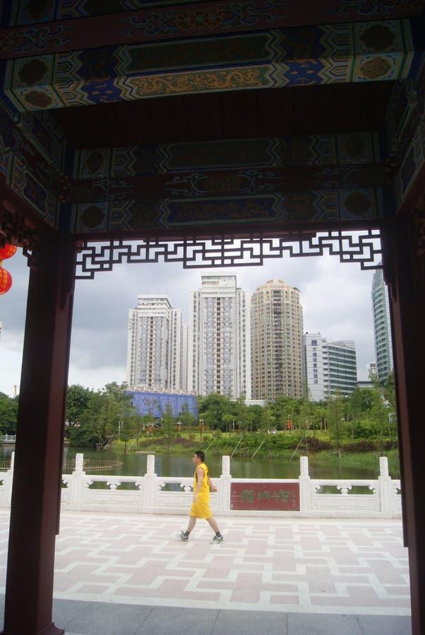 Paisaje del parque del lichí de Shenzhen foto de archivo libre de regalías