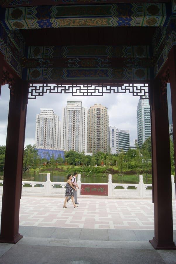 Paisaje del parque del lichí de Shenzhen fotos de archivo libres de regalías