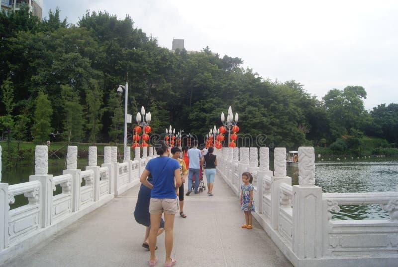 Paisaje del parque del lichí de Shenzhen imagen de archivo