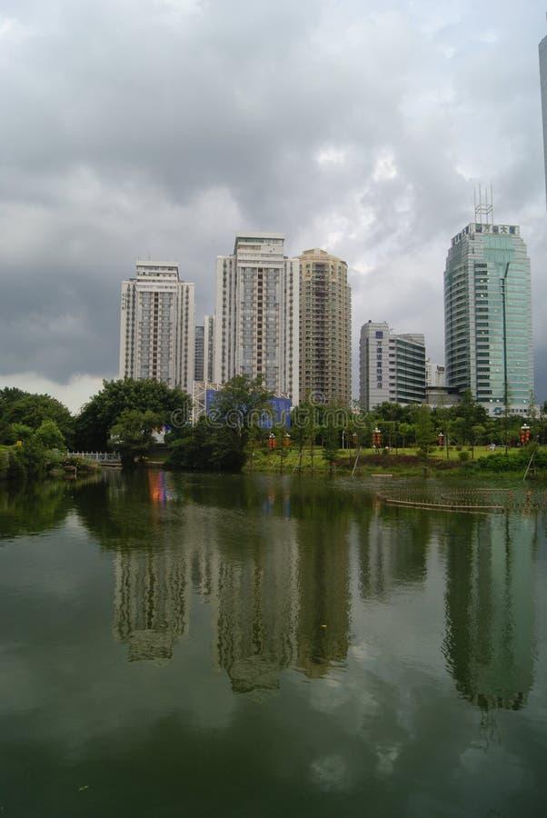 Paisaje del parque del lichí de Shenzhen fotografía de archivo libre de regalías