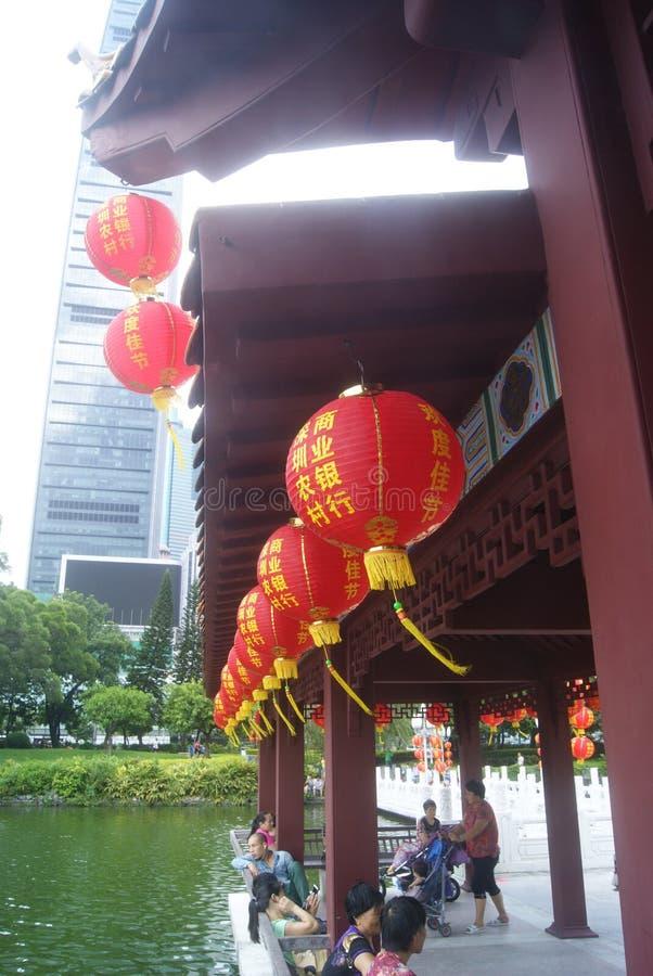 Paisaje del parque del lichí de Shenzhen imagen de archivo libre de regalías