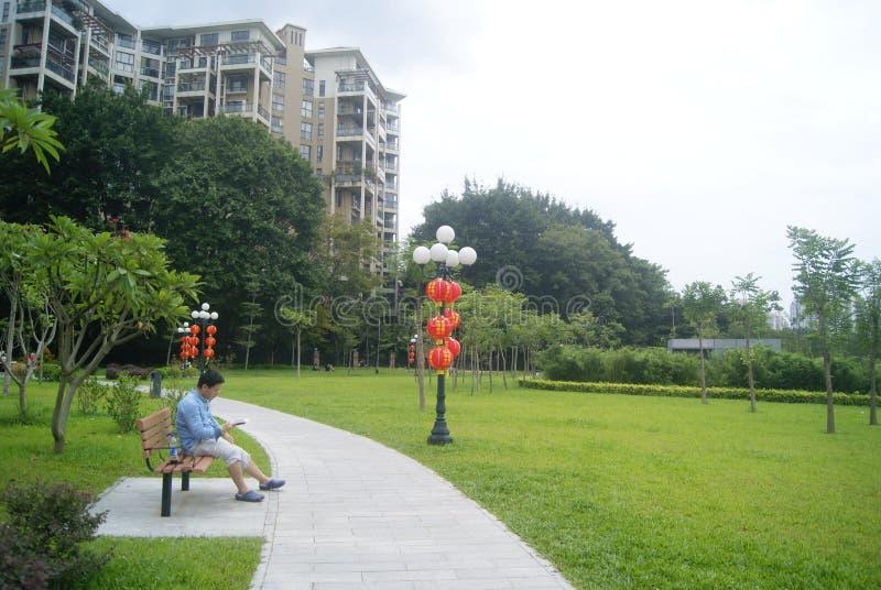 Paisaje del parque del lichí de Shenzhen, en China imágenes de archivo libres de regalías