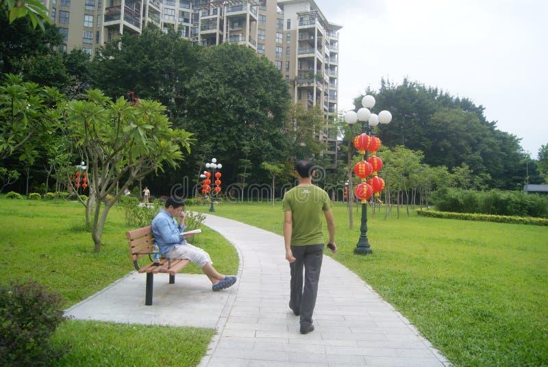 Paisaje del parque del lichí de Shenzhen, en China fotos de archivo libres de regalías