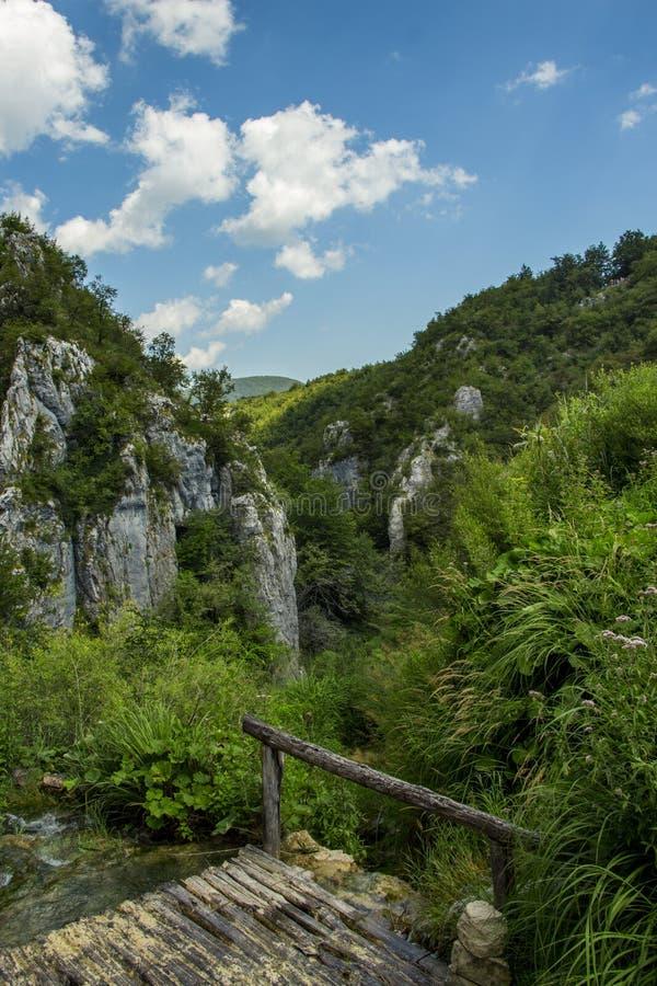 Paisaje del parque nacional de los lagos Plitvice en Croacia fotos de archivo libres de regalías