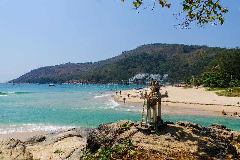 Paisaje del punto de opinión de Phuket en Nai Harn Beach Located en la provincia de Phuket, Tailandia fotografía de archivo libre de regalías