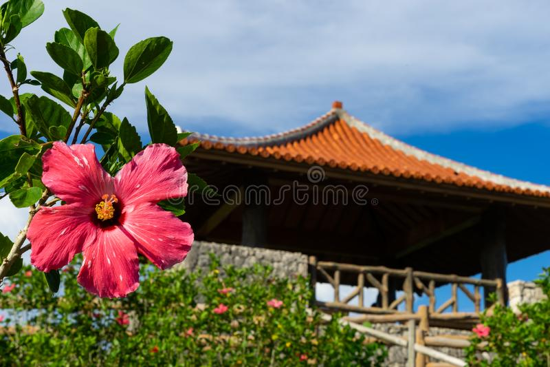 Paisaje del punto de vista de Tamarotizaki en la isla de Ishigaki imagenes de archivo