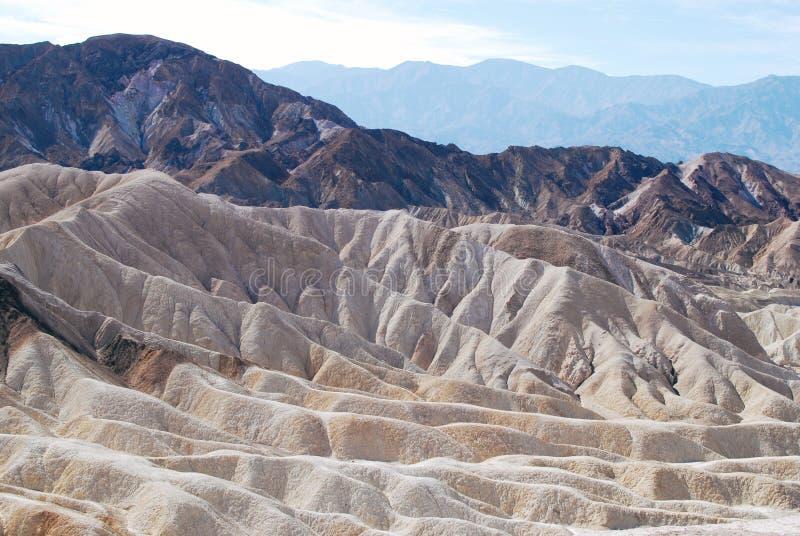 Paisaje del punto de Zabriskie, Death Valley fotos de archivo