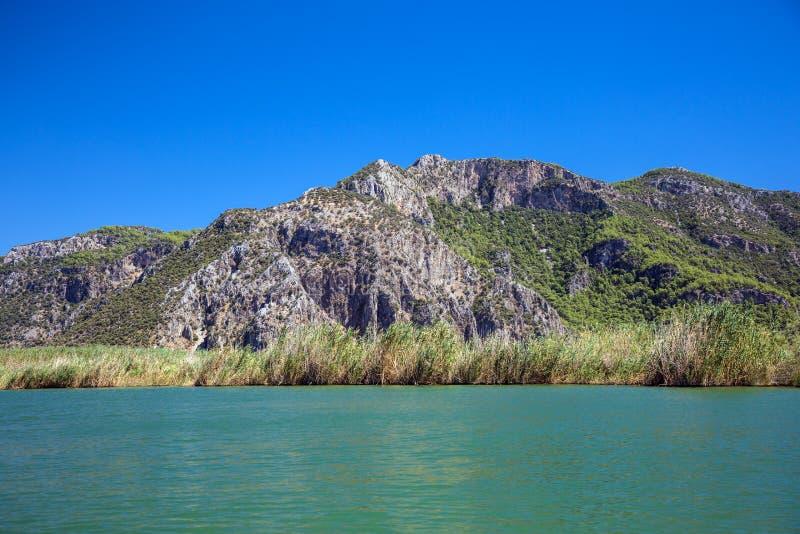 Paisaje del río de Dalyan fotos de archivo libres de regalías