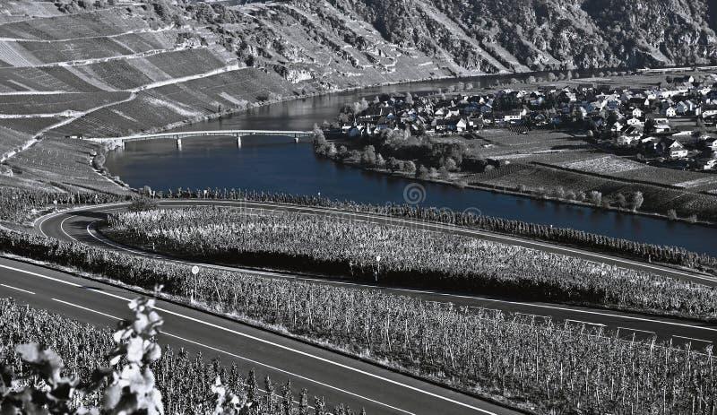 Paisaje del río de Mosela fotos de archivo libres de regalías