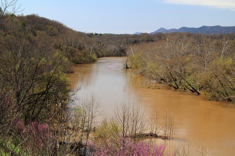 Paisaje del río de Shenandoah imagenes de archivo