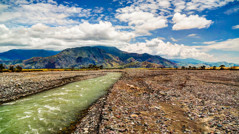 Paisaje del río y del valle, Madang Papua nuevo Gunea de Ramu fotos de archivo