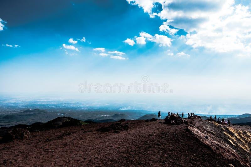 Paisaje del ` s del Etna fotografía de archivo libre de regalías
