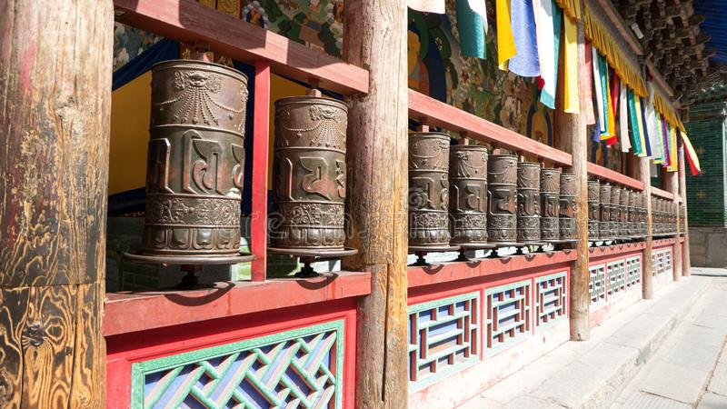 Paisaje del templo del alquitrán de China Qinghai Xining fotografía de archivo libre de regalías