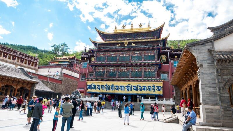 Paisaje del templo del alquitrán de China Qinghai Xining fotos de archivo libres de regalías
