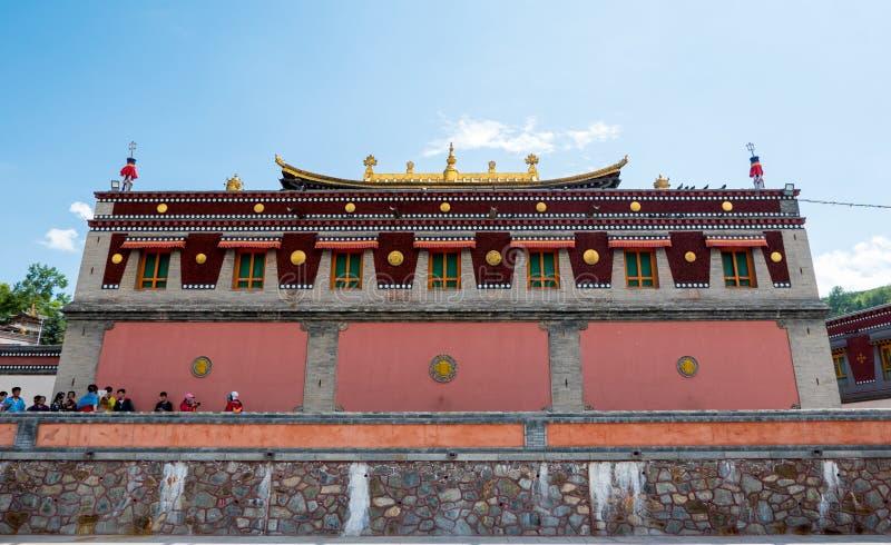 Paisaje del templo del alquitrán de China Qinghai Xining fotos de archivo