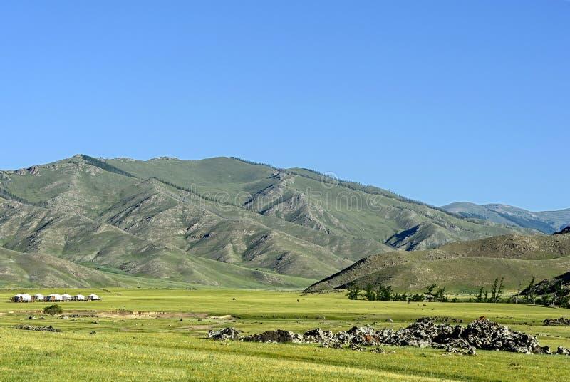 Paisaje del valle de Orkhon fotografía de archivo libre de regalías