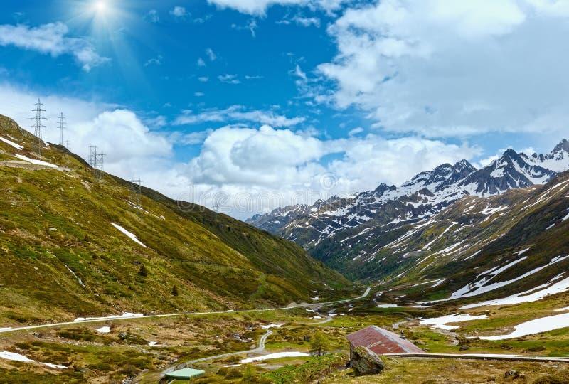 Paisaje del verano de Passo del San Gottardo (Suiza) foto de archivo libre de regalías