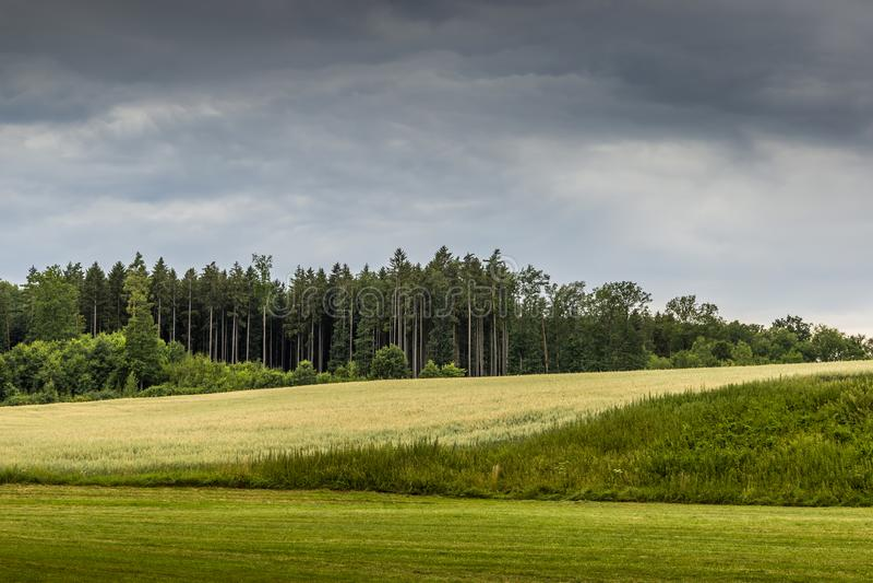 Paisaje del verano en el parque nacional Sumava fotografía de archivo libre de regalías