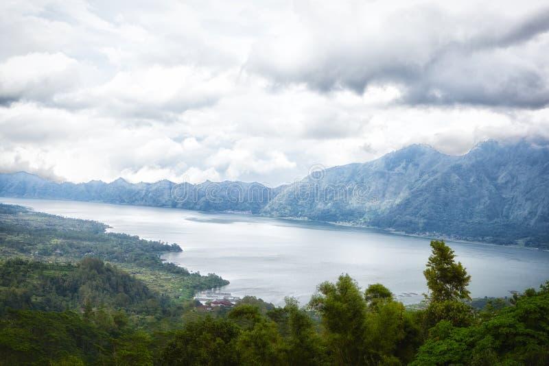 Paisaje del volcán de Batur en Bali fotografía de archivo libre de regalías