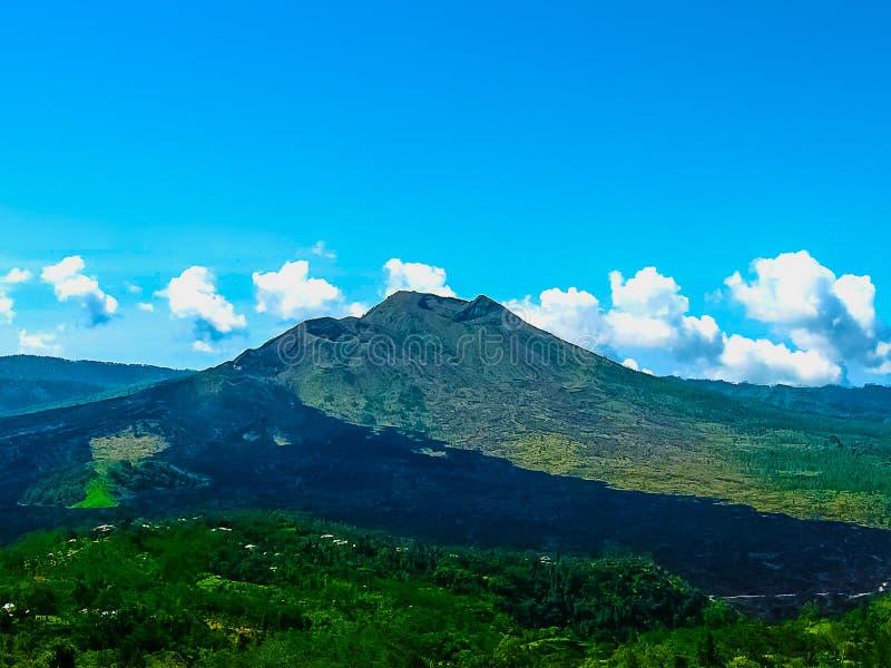 Paisaje del volcán de Batur en la isla de Bali, Indonesia foto de archivo libre de regalías