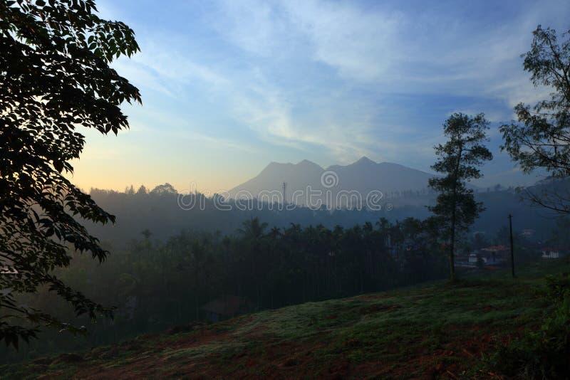Paisaje del Wayanad en Kerala, la India foto de archivo