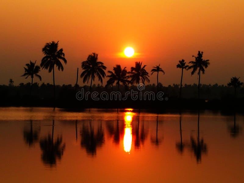 Paisaje determinado de Sun fotos de archivo libres de regalías