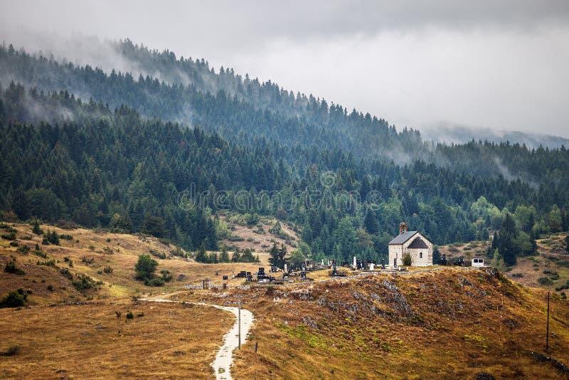Paisaje dramático en el parque nacional de Durmitor imagen de archivo