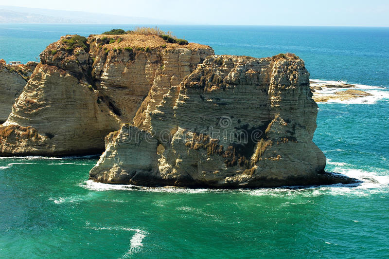 Paisaje en Beirut Líbano fotos de archivo