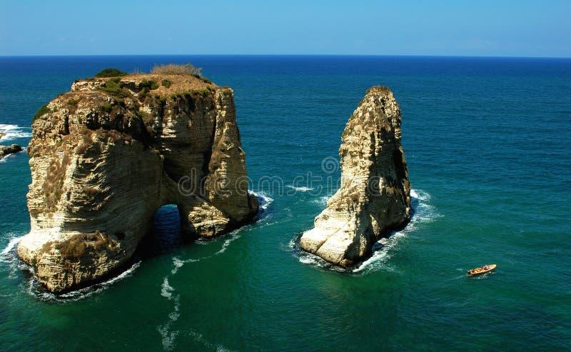 Paisaje en Beirut Líbano foto de archivo libre de regalías