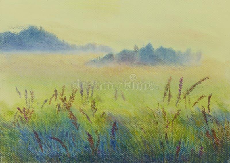 Paisaje en colores pastel libre illustration