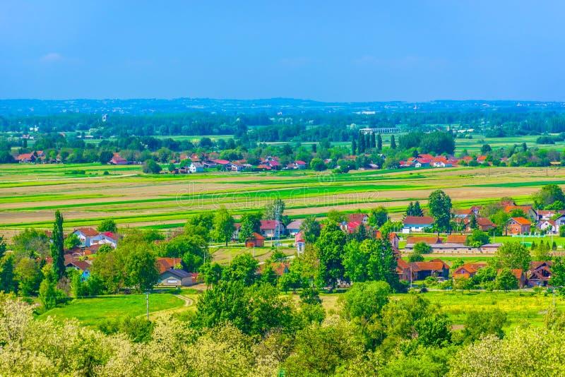 Paisaje en Croacia, Koprivnica foto de archivo