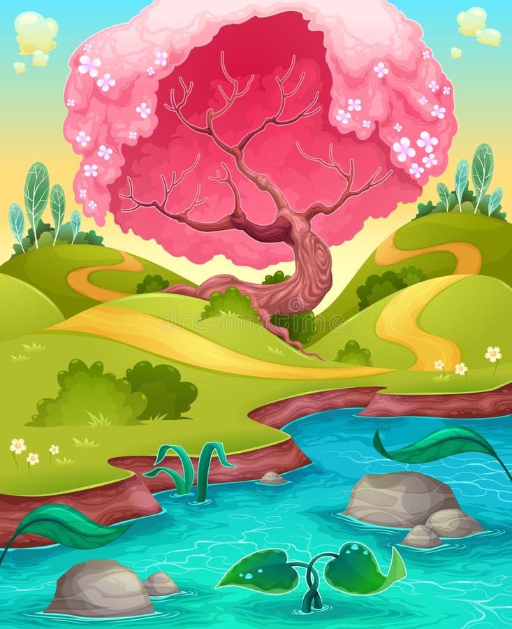 Paisaje en el campo libre illustration