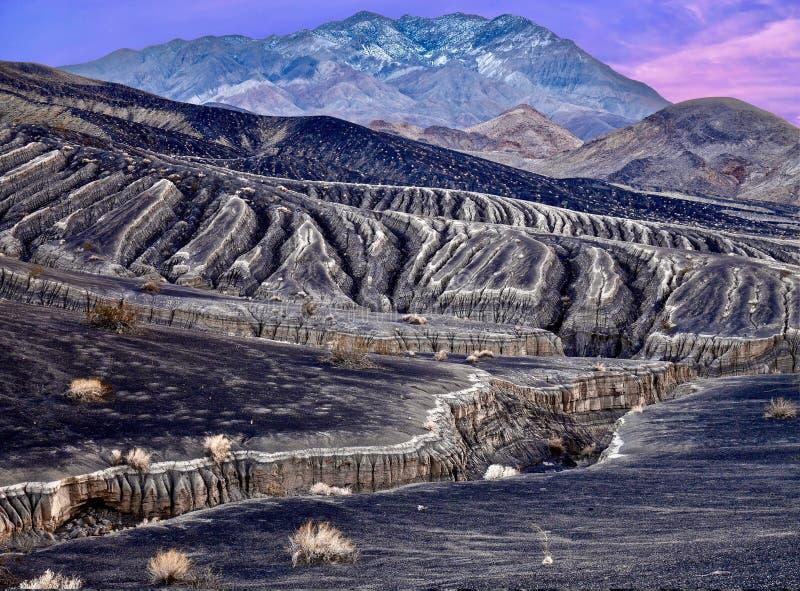Paisaje en el parque nacional de Death Valley fotos de archivo libres de regalías