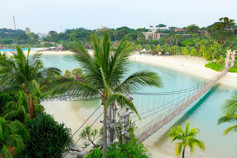 Paisaje en el sentosa, Singapur foto de archivo