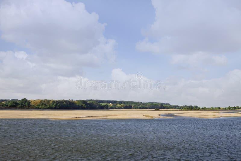 Paisaje en el valle del Loira imagen de archivo