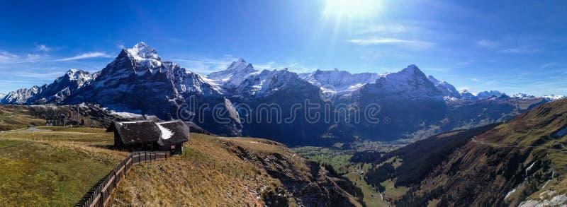 Paisaje en Grindelwald, Suiza fotos de archivo libres de regalías