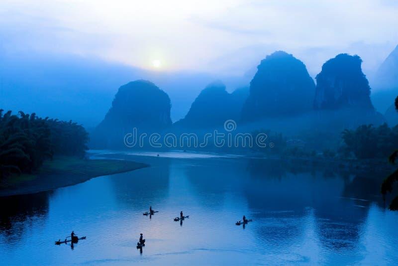 Paisaje en Guilin, China fotografía de archivo libre de regalías