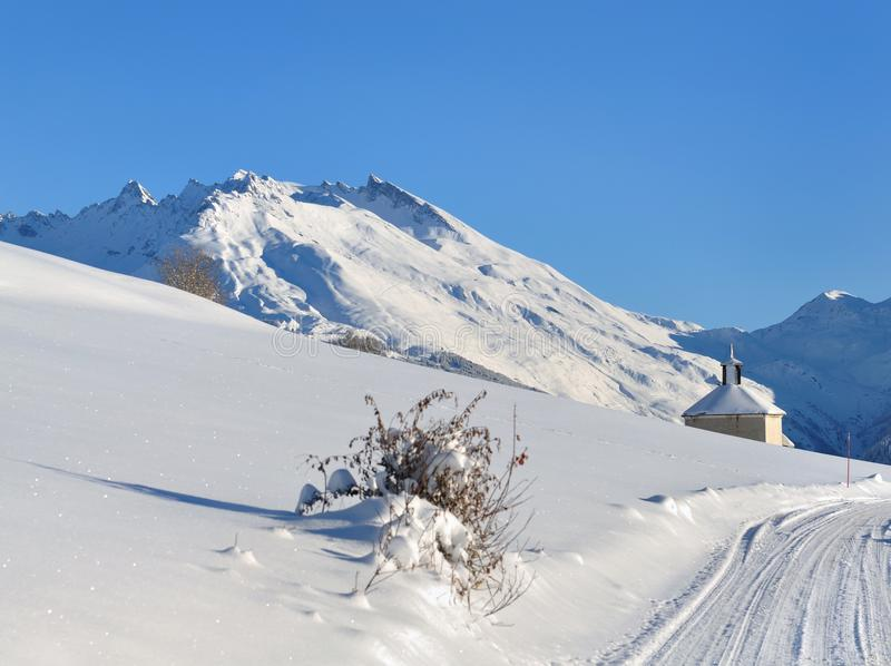 Paisaje en invierno fotografía de archivo libre de regalías
