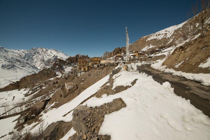Paisaje en invierno en Himalaya - la India foto de archivo libre de regalías