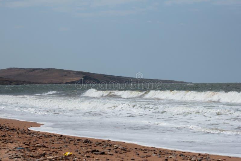 Paisaje en la costa del norte de Crimea fotografía de archivo