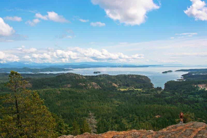 Paisaje en la isla de Vancouver, A.C., Canadá fotografía de archivo libre de regalías