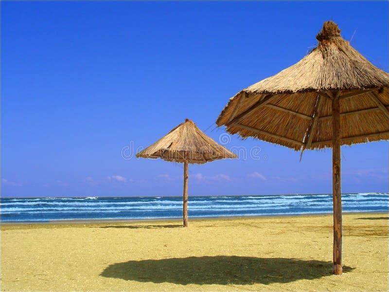 Paisaje en la playa imagen de archivo libre de regalías