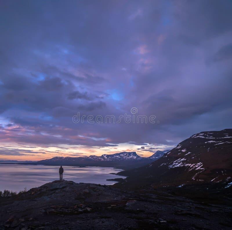 Paisaje en Lappland imágenes de archivo libres de regalías