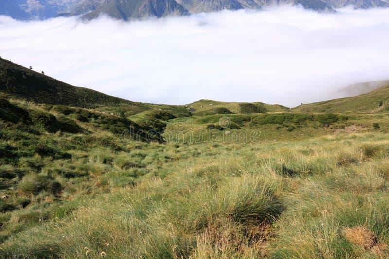 Paisaje en Pyrenees fotos de archivo libres de regalías