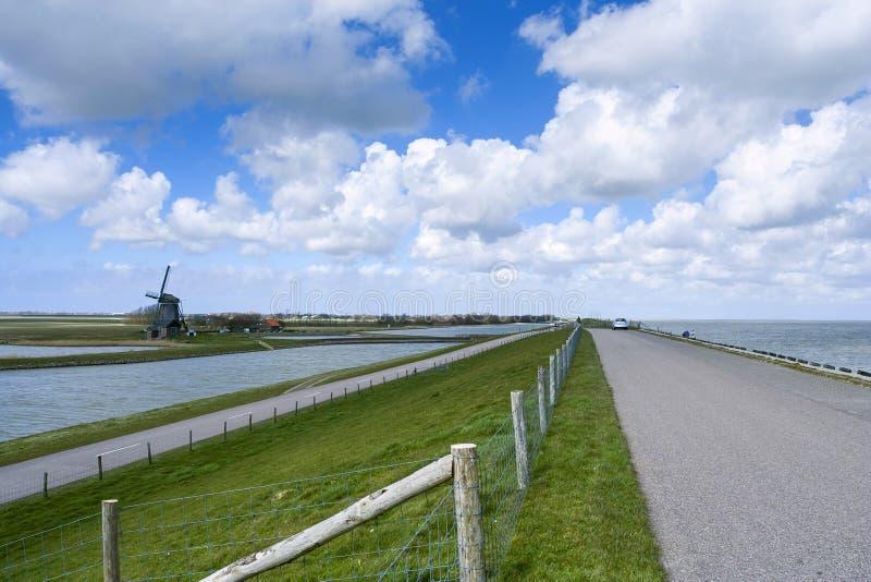 Paisaje en Texel imagenes de archivo