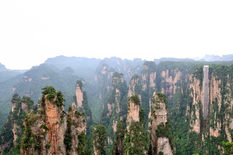 Paisaje en Zhangjiajie de China fotos de archivo