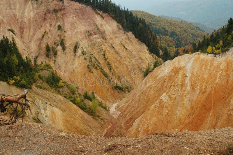 Paisaje erosional fotografía de archivo